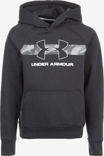 UNDER ARMOUR Hoodie 'Rival' in hellgrau / schwarz / weiß, Produktansicht