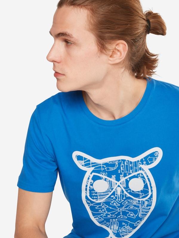 KnowledgeCotton Apparel T-Shirt 'Diagram Owl print - GOTS'