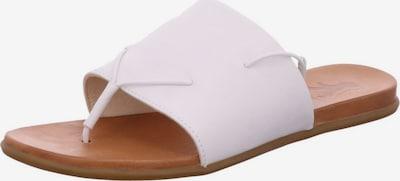 MUSTANG Pantoletten in braun / weiß: Frontalansicht