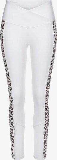 BENCH Leggings in grau / weiß, Produktansicht