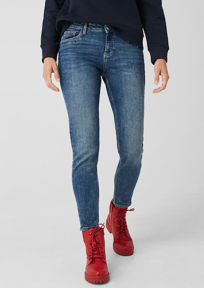 s.Oliver Shape Ankle: Jeans mit Nieten in blue denim, Modelansicht