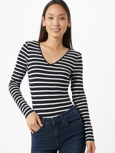 TOMMY HILFIGER Koszula body 'Celia' w kolorze ciemny niebieski / białym, Podgląd na modelu(-ce)