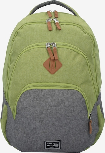 TRAVELITE Rucksack in graumeliert / apfel, Produktansicht