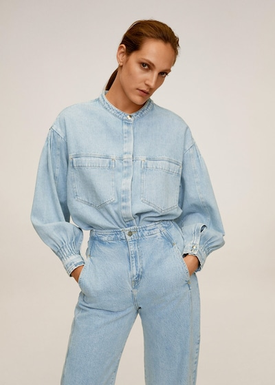 MANGO Jeans aladina in himmelblau, Modelansicht