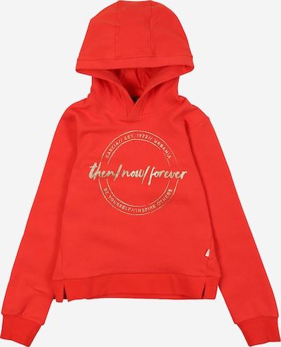 GARCIA Sweatshirt in silbergrau / orangerot, Produktansicht
