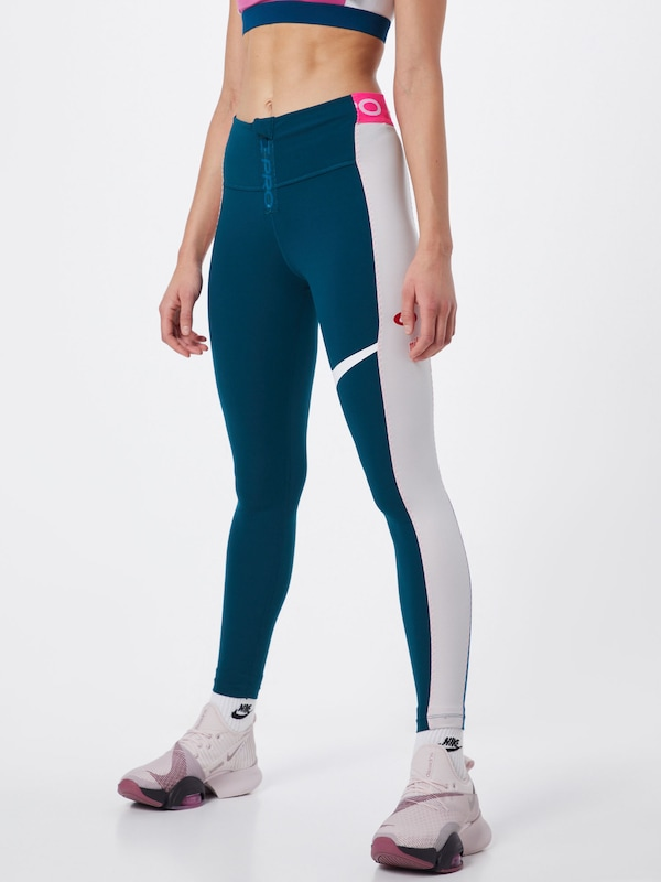 NIKE Leggings 'Power' in dunkelblau / rosa / weiß: Frontalansicht