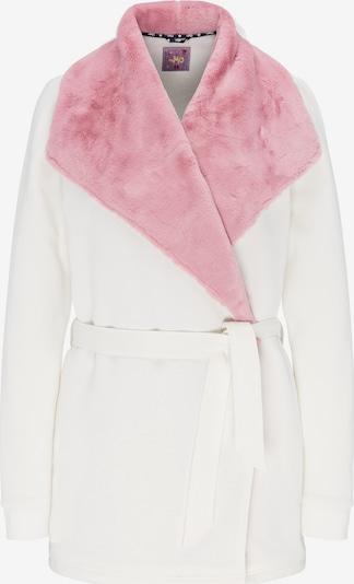MYMO Sweatjacke in rosa / weiß, Produktansicht