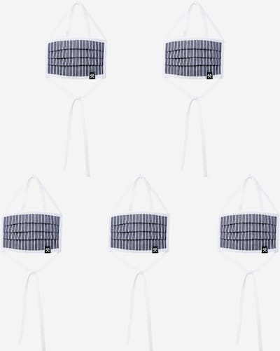 Grubenhelden Stoffmasken '5er Pack' in blau / weiß, Produktansicht