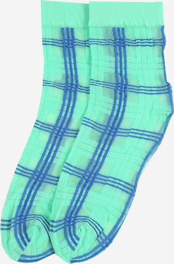 Swedish Stockings Sokker 'Greta Tartan' i blå / grøn, Produktvisning