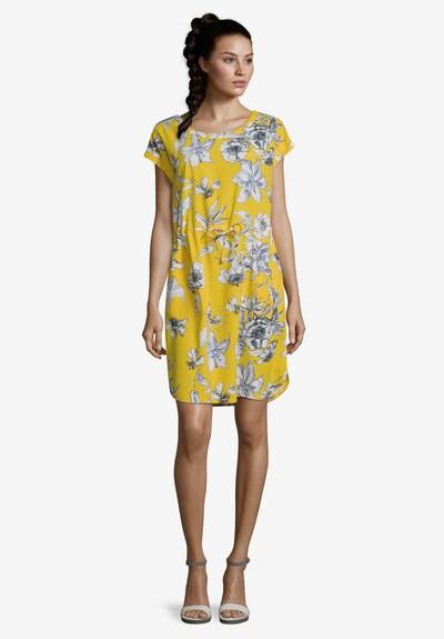 Betty Barclay Sommerkleid mit Tunnelzug in gelb / weiß, Modelansicht