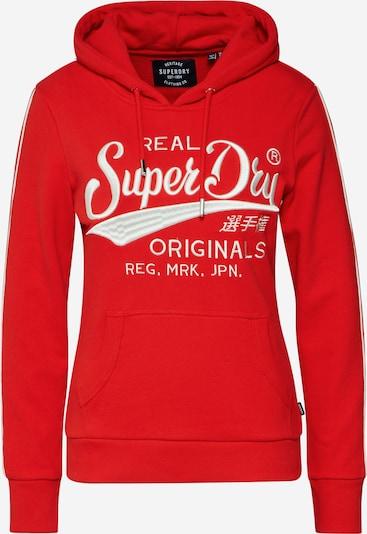 Superdry Sweatshirt in rot / weiß, Produktansicht