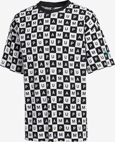 PUMA T-Shirt 'Checkboard AOP' in schwarz / weiß, Produktansicht