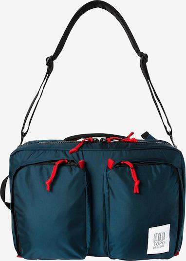 Topo Designs Rucksack in navy / blutrot, Produktansicht