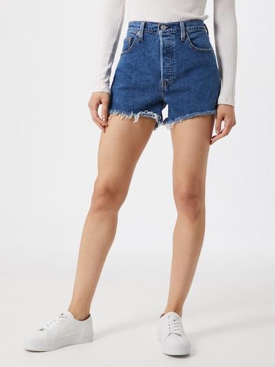 LEVI'S Shorts '501® HIGH RISE' in blue denim: Frontalansicht