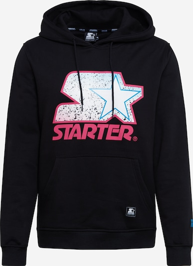 Starter Black Label Sweatshirt 'Starter Multicolored Logo' in de kleur Pink / Zwart, Productweergave