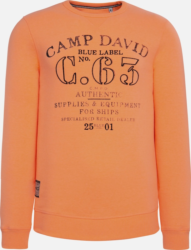 CAMP DAVID Sweater in orange, Produktansicht