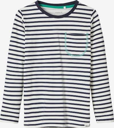 NAME IT Shirt in nachtblau / weiß, Produktansicht