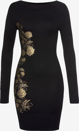 MELROSE Strickkleid in gold / schwarz, Produktansicht