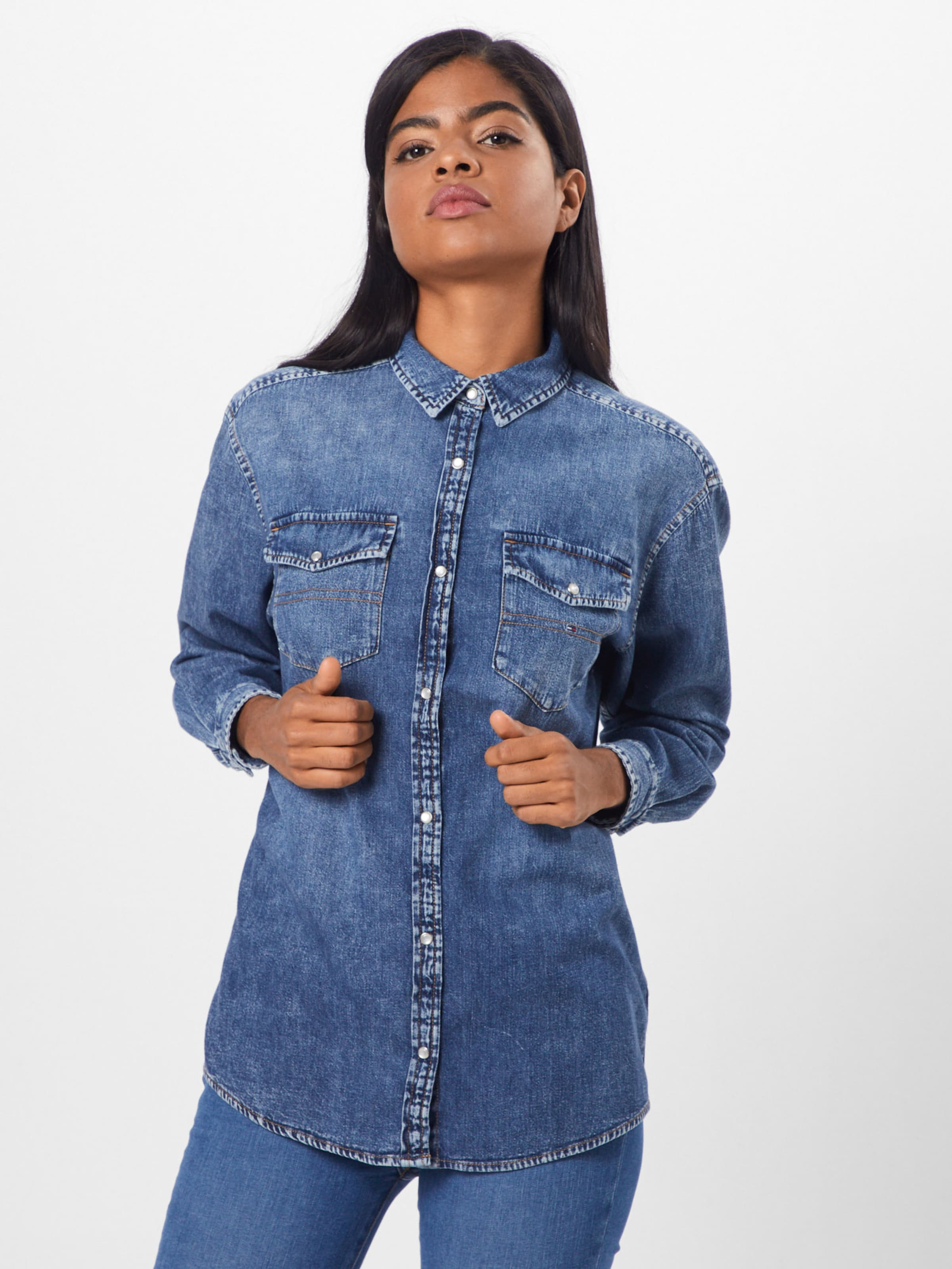Jeans Jeansbluse Tommy In Blue Denim 8wOXk0nP