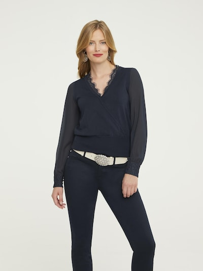 heine Pullover in marine, Modelansicht