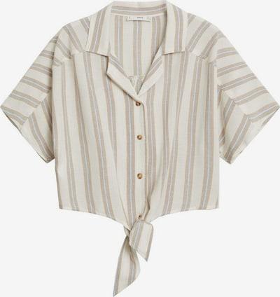 MANGO Bluse in beige / weiß, Produktansicht