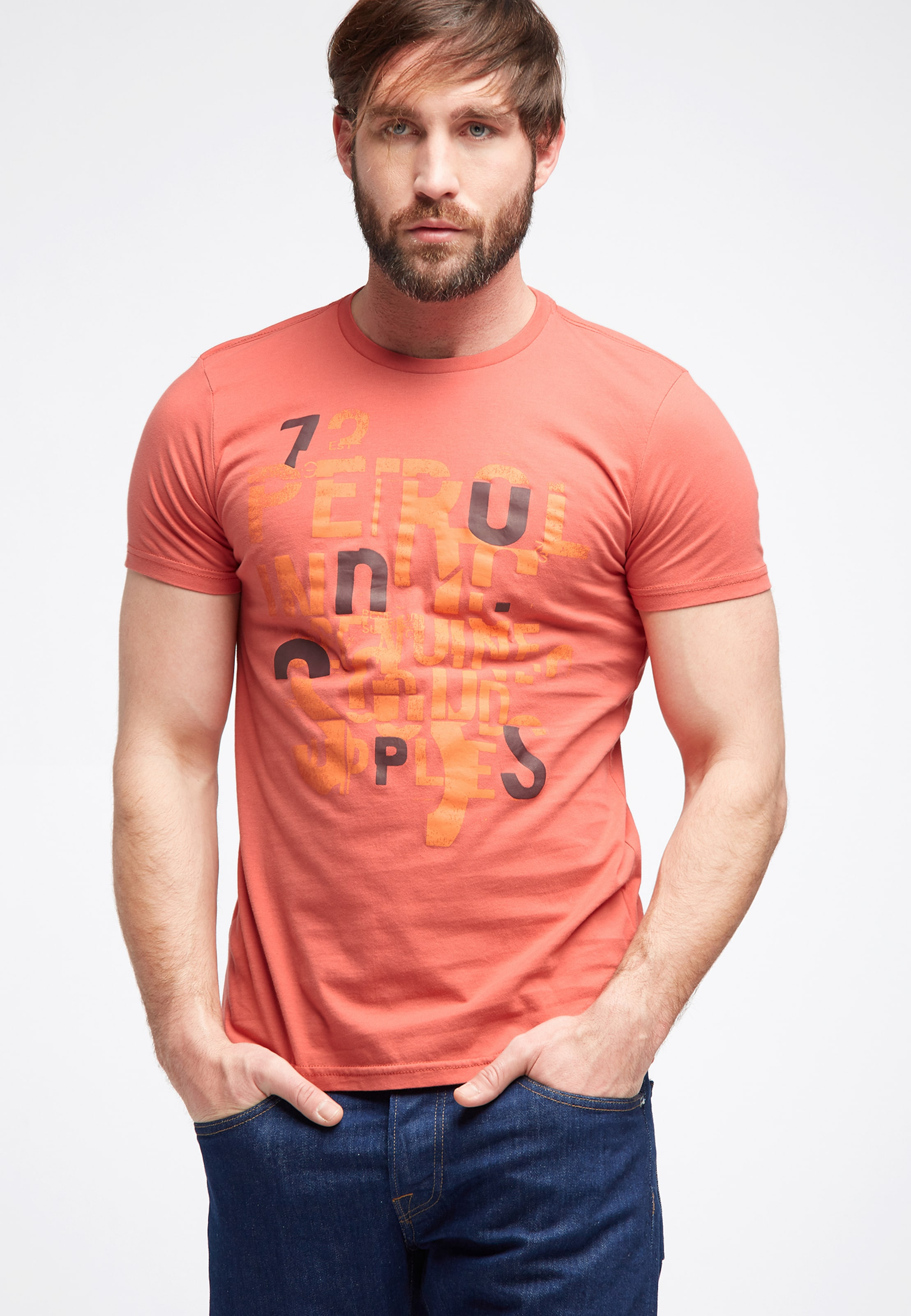 Petrol En shirt Foncé Orange T Industries xWBeQrdCo