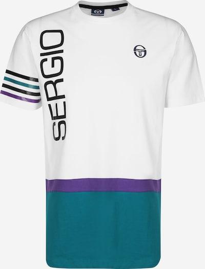 Sergio Tacchini Shirt 'Dennis' in türkis / naturweiß, Produktansicht