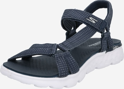SKECHERS Wandelsandalen 'On-The-Go Radiance' in de kleur Navy / Wit, Productweergave