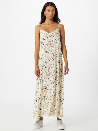 PIECES Kleid 'LINDA' in nude / oliv / pastellorange / rosé / orangerot / weiß, Modelansicht