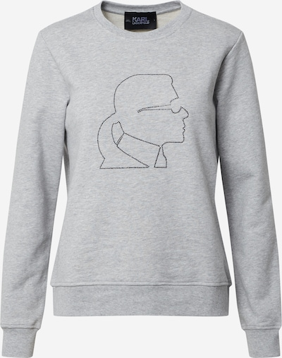 Karl Lagerfeld Sweatshirt 'Kameo Rhinestones' in de kleur Grijs gemêleerd, Productweergave