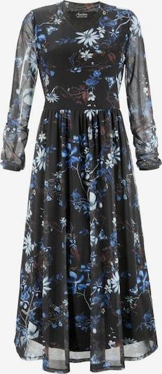Aniston SELECTED Kleid in blau / schwarz / weiß: Frontalansicht