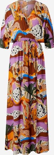 TOM TAILOR DENIM Kleid in grün / orange / pink / schwarz / weiß, Produktansicht