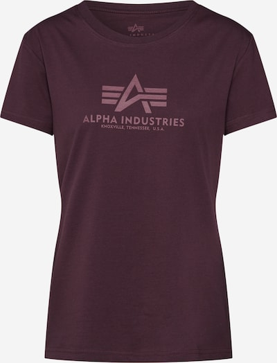 ALPHA INDUSTRIES Shirt in weinrot, Produktansicht