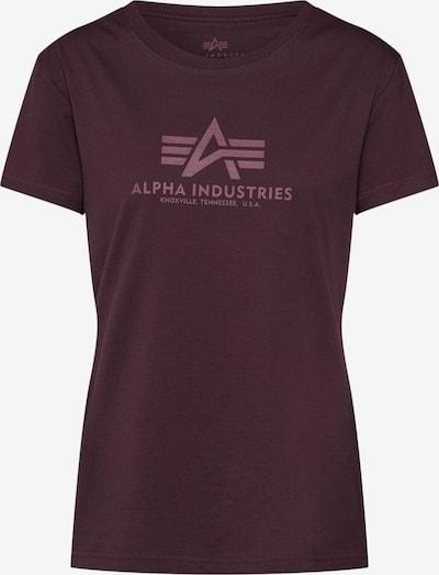 ALPHA INDUSTRIES Shirt 'New Basic T Wmn' in burgunder, Produktansicht