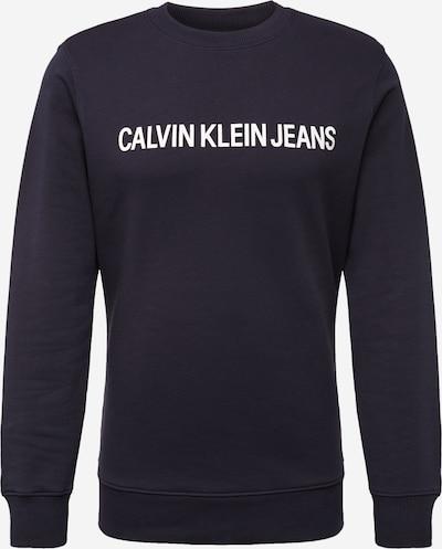 Calvin Klein Jeans Sweat-shirt en noir / blanc, Vue avec produit