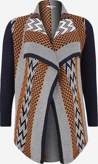 ABOUT YOU Curvy Gebreid vest 'Leandra' in de kleur Blauw / Mosterd / Offwhite, Productweergave