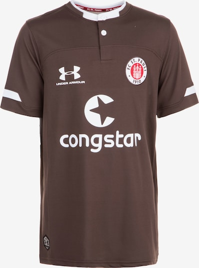 UNDER ARMOUR Trikot 'FC St. Pauli' in braun / weiß, Produktansicht
