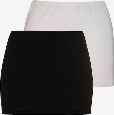 Ulla Popken Shirt-Verlängerung in schwarz / weiß, Produktansicht