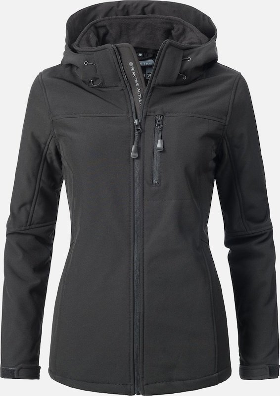 Peak Time Softshelljacke 'L62000AS' in schwarz, Produktansicht