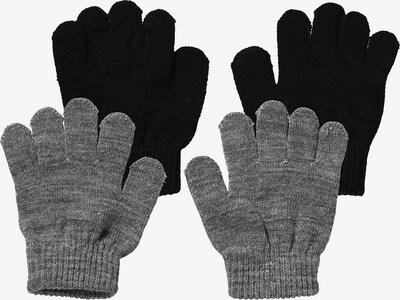 NAME IT Handschuhe in graumeliert / schwarz, Produktansicht
