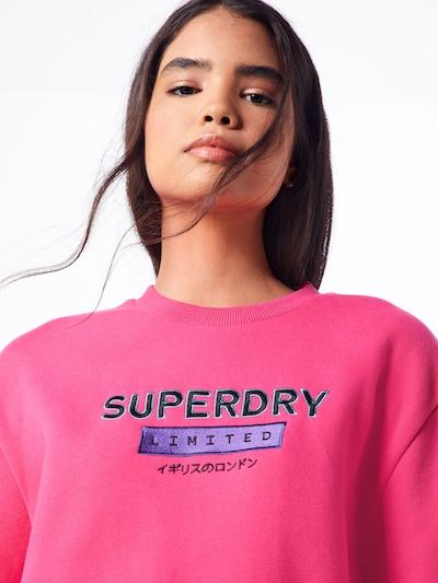 Superdry Tréning póló 'NINETIES APPLIQUE CREW' lila