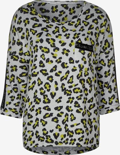 CECIL Shirt in de kleur Grijs / Kiwi / Zwart, Productweergave