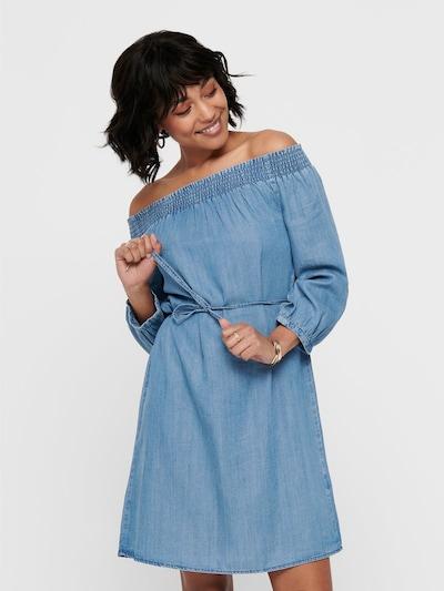 ONLY Kleid in taubenblau, Modelansicht