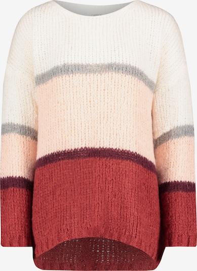 Cartoon Pullover in grau / pink / rot / weiß, Produktansicht