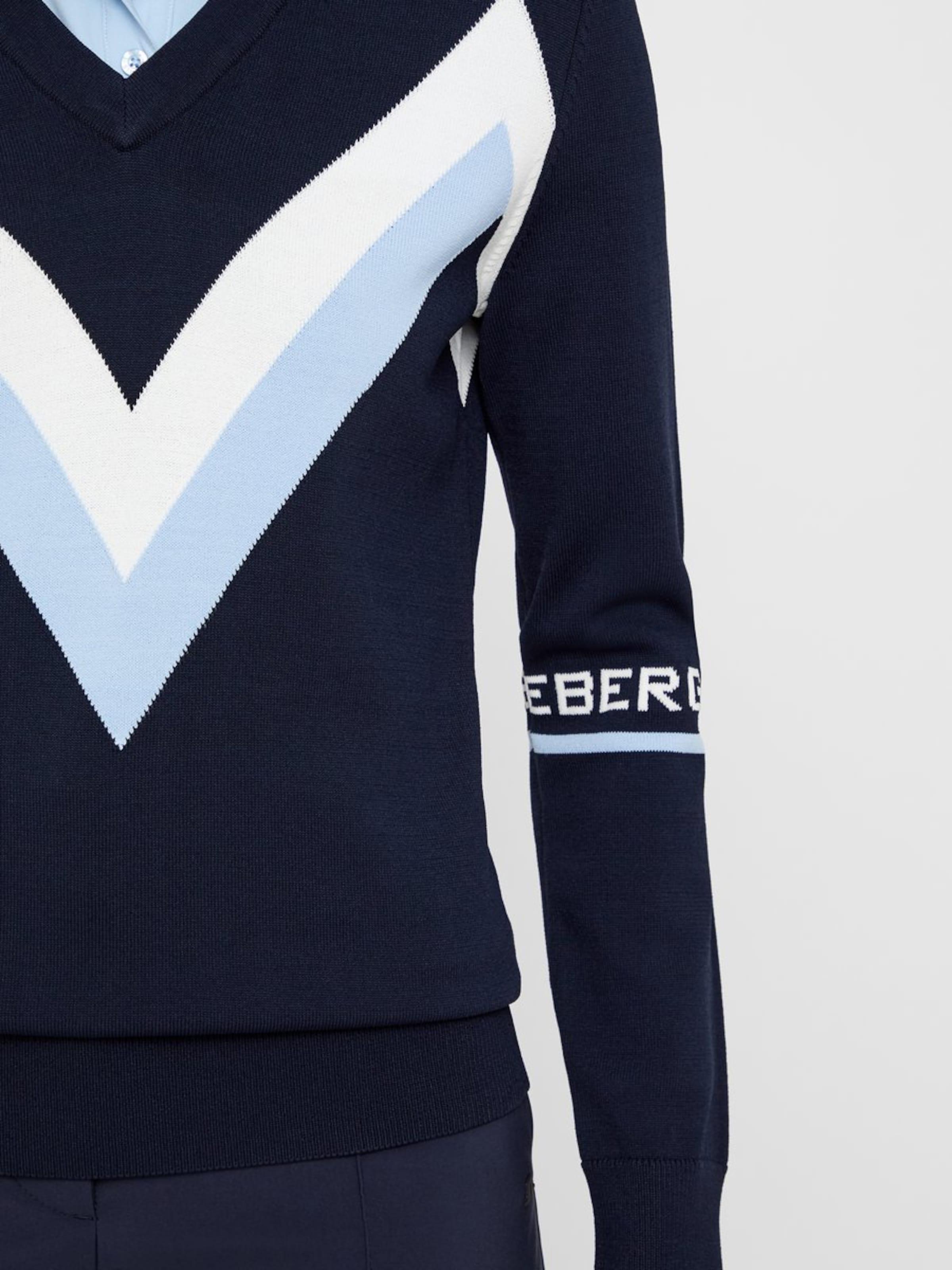 MarineClair Blanc Bleu lindeberg 'celine' En Pull over J jq3Sc5R4AL