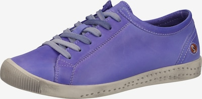 Softinos Baskets basses en violet, Vue avec produit