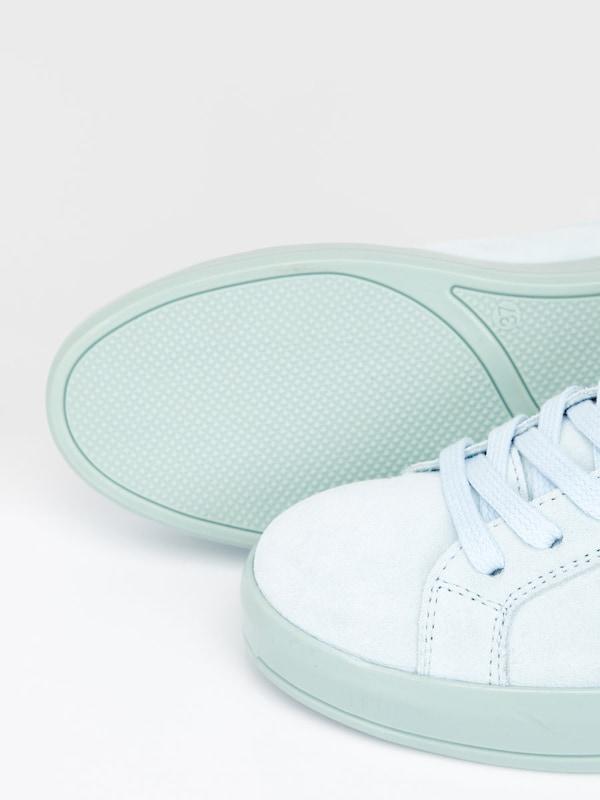 Bianco Geschnürte Wildleder Sneaker