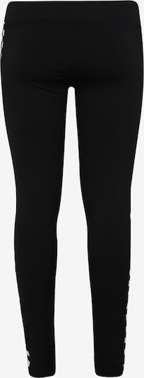 Urban Classics Curvy Leggings 'Ladies Side Check Leggings' en noir / blanc: Vue de dos