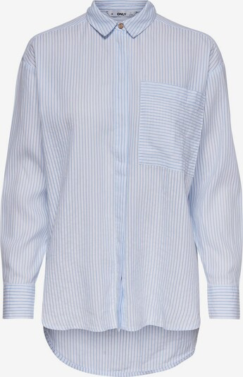 ONLY Blouse in de kleur Lichtblauw / Wit, Productweergave
