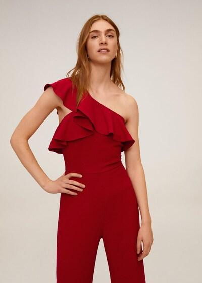 MANGO Overall in rubinrot, Modelansicht